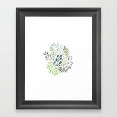 watercolor plants Framed Art Print