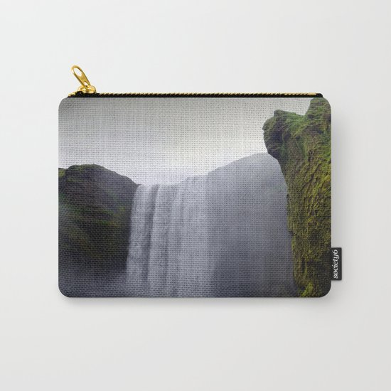 skogafoss waterfall, iceland. Carry-All Pouch