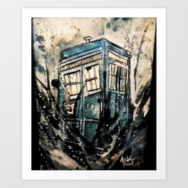 TARDIS from Doctor Who Art Print