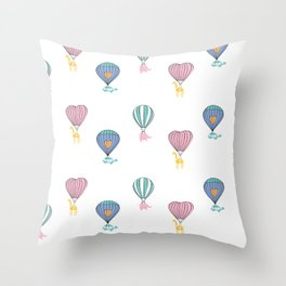 Sweet balloon dreams Throw Pillow