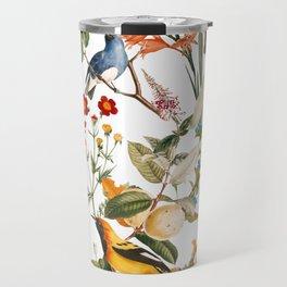 Floral and Birds XXXII Travel Mug