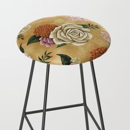 Gold luxury floral Bar Stool