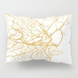 BOSTON MASSACHUSETTS CITY STREET MAP ART Pillow Sham
