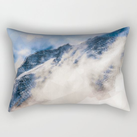 Snowy mountains - Triangles Rectangular Pillow