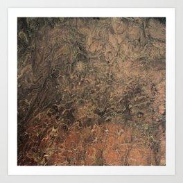 Copper Black Gold Marble Canvas Texture Art Print