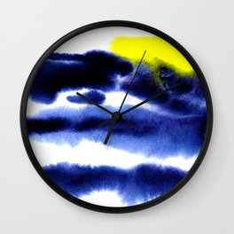 Watercolor bright abstraction Wall Clock