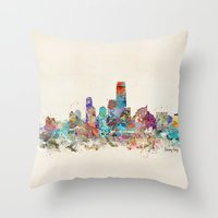 new jersey Throw Pillows featuring jersey city new jersey by bri.buckley