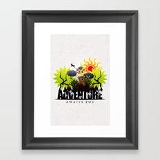 Adventure Awaits You Framed Art Print
