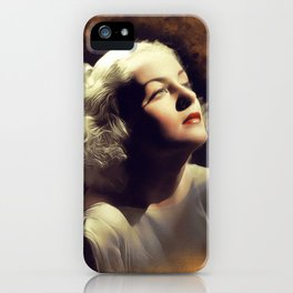 Carole Lombard, Vintage Actress iPhone Case