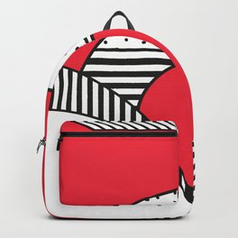 Minimal Design of a city in Red and Black and White Backpack