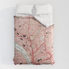 Dallas Texas Map (1995) Comforters