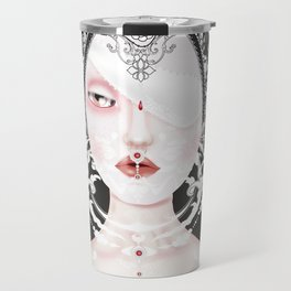 Doll portrait albino Travel Mug