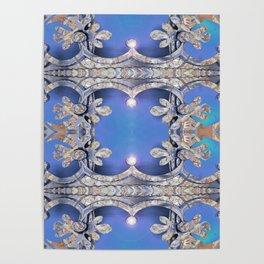 Boujee Boho Royal Glow Indigo Poster