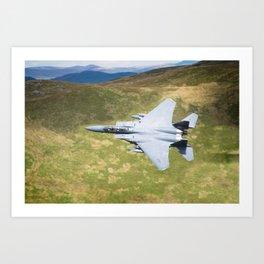Low Flying F-15E Strike Eagle Art Print