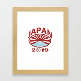 Japan 2019 Rugby Oval Ball Retro Framed Art Print