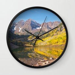 The Maroon Bells Wall Clock