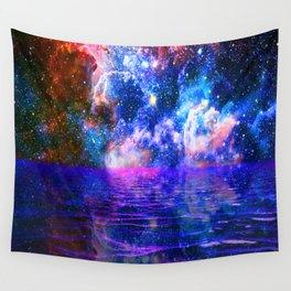 NEBULA COSMIC HORIZON OCEAN BLUE Wall Tapestry