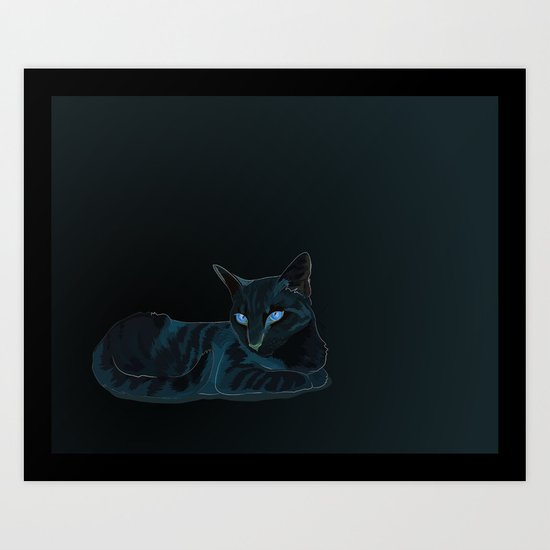 Biscut the Tabby Cat Art Print