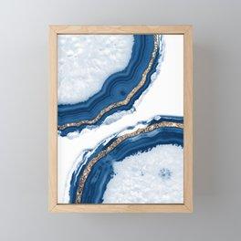 Agate Glitter Glam #15 #gem #decor #art #society6 Framed Mini Art Print
