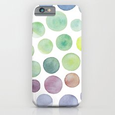 Dots purple and green Slim Case iPhone 6s