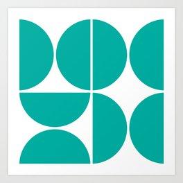 Mid Century Modern Turquoise Square Kunstdrucke
