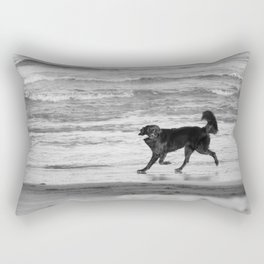 Playing Fetch Rectangular Pillow