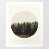 forest Art Prints featuring Dark Forest by Tina Crespo