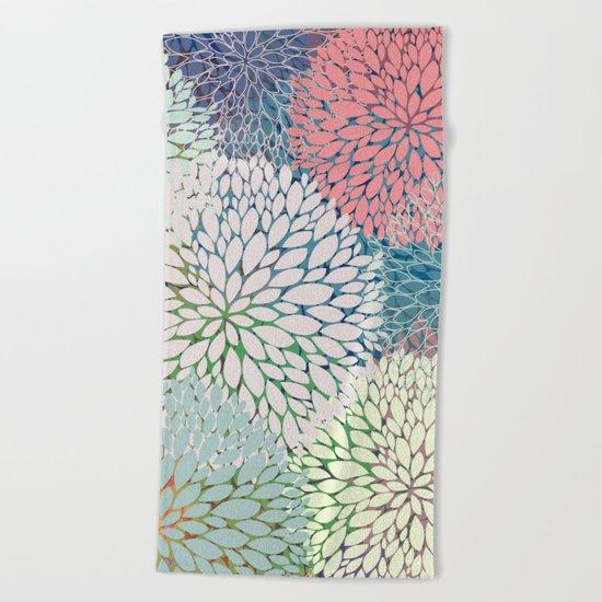 Abstract Floral Petals 3 Beach Towel