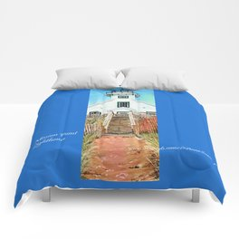 Mission Point Lighthouse Comforters