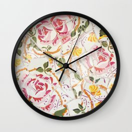 Tiling with pattern 7 Wall Clock