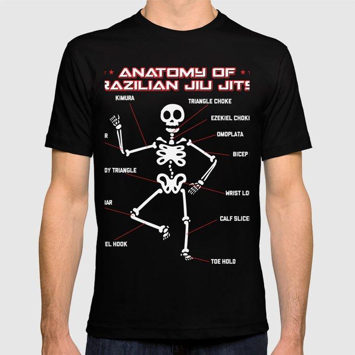 Brazilian Jiu Jitsu Anatomy T-Shirts BJJ MMA Grappling Shirt T ...