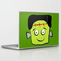 frankenstein Laptop & iPad Skins featuring Frankenstein by Jessica Slater Design & Illustration