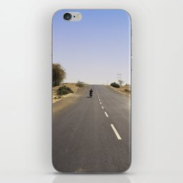 The motorcycle ride iPhone Skin