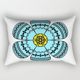 Hippie Geometric Flower Rectangular Pillow