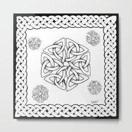 Celtic Knot Snowflake Metal Print