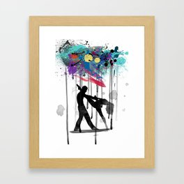 rain again  Framed Art Print