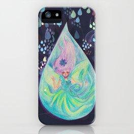 Raindrop faery iPhone Case