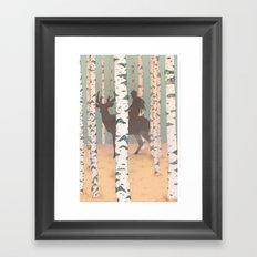 Fantasy print, Folk art print, original artwork , Giclee art print , A4 print Framed Art Print