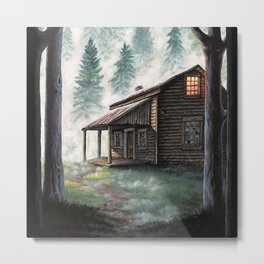 Cabin in the Pines Metal Print