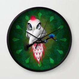 Exotic Parrot Wall Clock