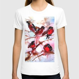 Robins in the Snow T-shirt