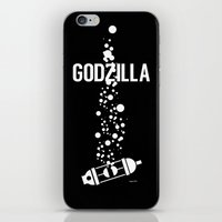 godzilla iPhone & iPod Skins featuring GODZILLA by James Biggie