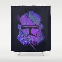 trooper Shower Curtains featuring Splash Trooper by Sitchko Igor