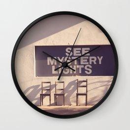 See Mystery Lights - Marfa, Texas Wall Clock
