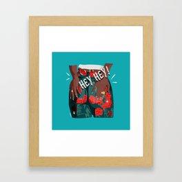 hey hey - girl power Framed Art Print
