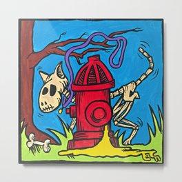 El Perro Malo (The Bad Dog) Dia de los Muertos Metal Print