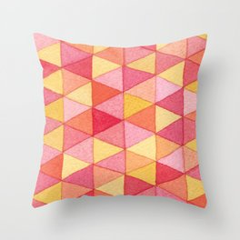 Watercolor Geometric Triangles Throw Pillow