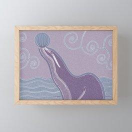 Purple Seal Framed Mini Art Print