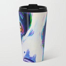 Collie close up - Border Collie Artwork Travel Mug