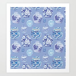 Chinoiserie Ginger Jar Collection No.6 Art Print